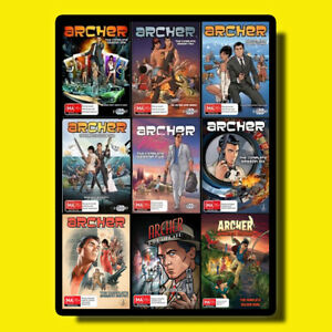 ARCHER-Complete-Series-Season-1-9-1-2-3-4-5-6-7-8-9-DVD-SEALED-SET-NEW-CARTOON