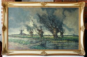 Faszinierendes-Olgemaelde-Landschaft-Expressionismus-Ol-Gemaelde-Leinwand-signiert