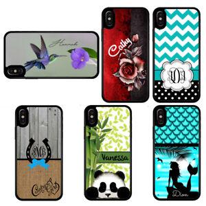 Personalized-Case-Fits-iPhone-XR-XS-MAX-X-8-7-Humming-Rose-Mermaid-Panda-Chevron
