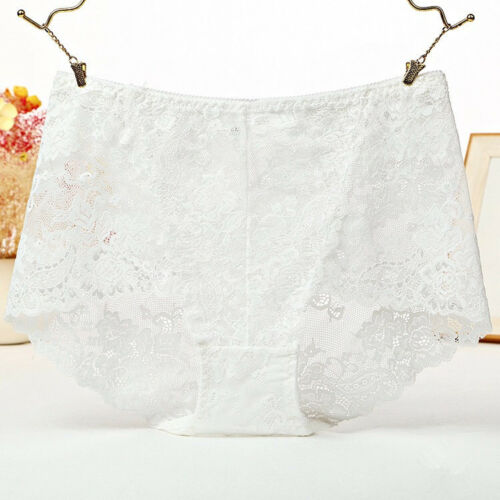 1 Or 4 Pack Ladies High Waist Lace French Knicker Boxer Briefs Lingerie UK 10-14