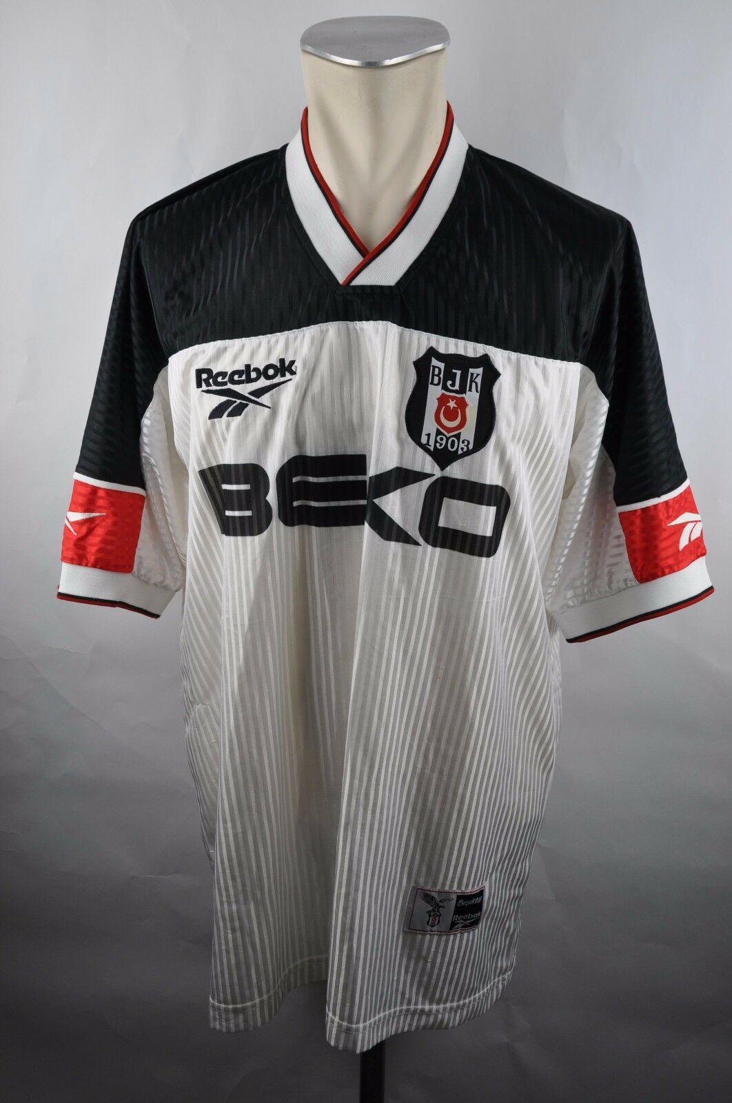 Besiktas Istanbul Trikot Gr. L Reebok BEKO Jersey 90er BJK VINTAGE 1999-2000  | Erlesene Materialien
