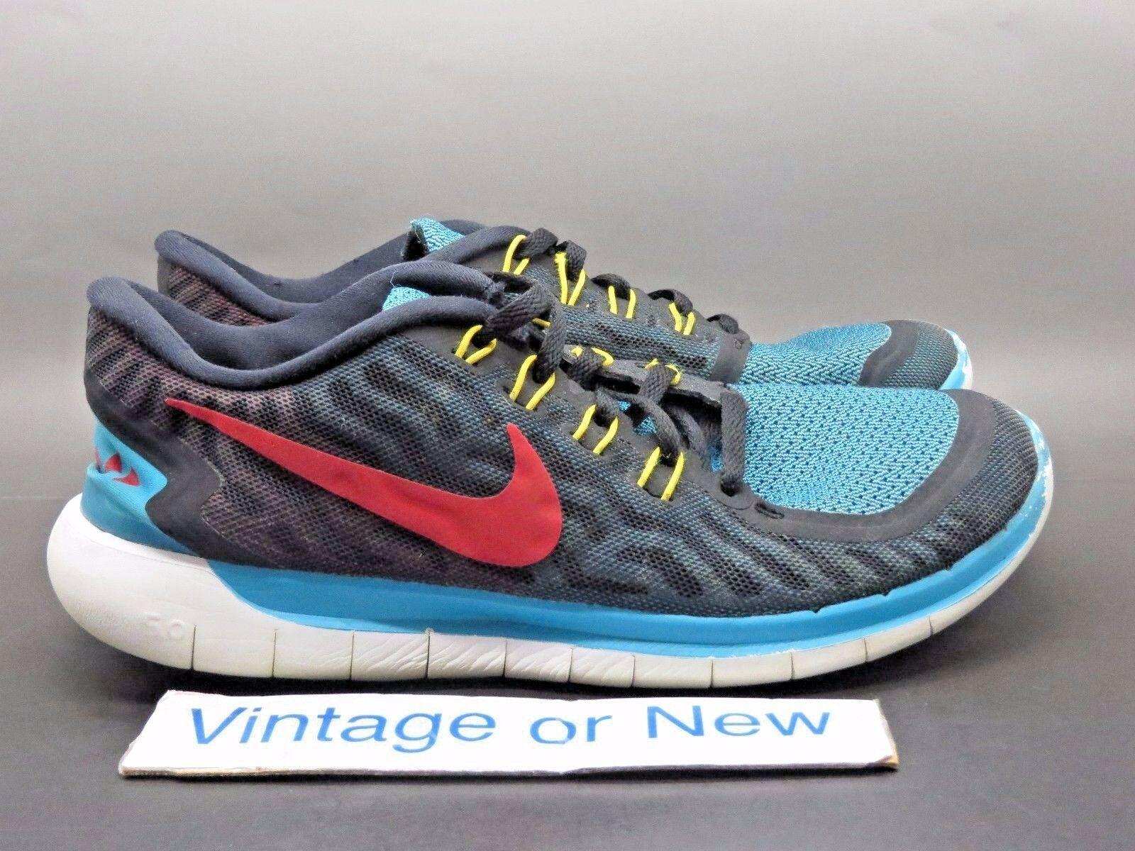 Men's Nike Free 5.0 N7 Turquoise Black Red Running Shoes 744807-064 Price reduction