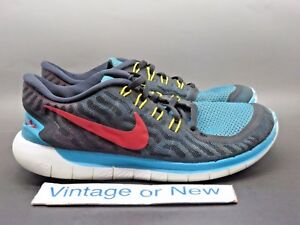 a62f2f8a1232 Men s Nike Free 5.0 N7 Turquoise Black Red Running Shoes 744807-064 ...