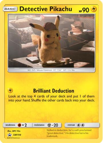 SM194 SM Black Star Promo NM-Mint Pokemon Pokemon Promo 1x Detective Pikachu