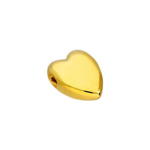 6mm plata chapado en oro pulido plana Corazón del grano fino día de San Valentín