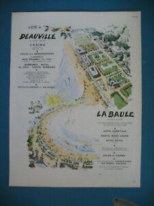 PUBLICITE-DE-PRESSE-TOURISME-DEAUVILLE-LA-BAULE-HOTELS-ILLUSTRATION-P-PAGES-1964