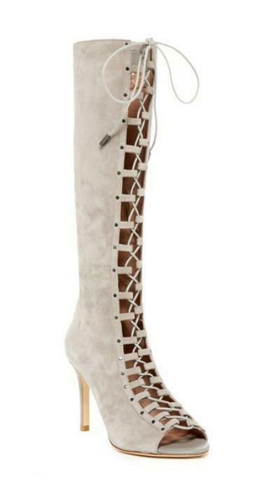 prezzi eccellenti Joie Joie Joie Aubrey Cement Tan Suede Lace Up Open Toe Knee High stivali Dimensione 7.5  ordina ora con grande sconto e consegna gratuita