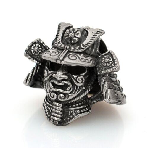 Metal DIY Beads Charms EDC Accessories Paracord Bead Samurai Helmet Silver