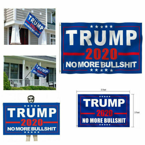 3x5 Ft Banner President Donald Trump Flag 2020 Keep Make America Great MAGA Bs