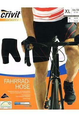 Crivit Sports Herren 3//4 Hose Fahrradose Radsport Hose Sport hose mit Eingearbeitetes ergonomisches Sitzpolster