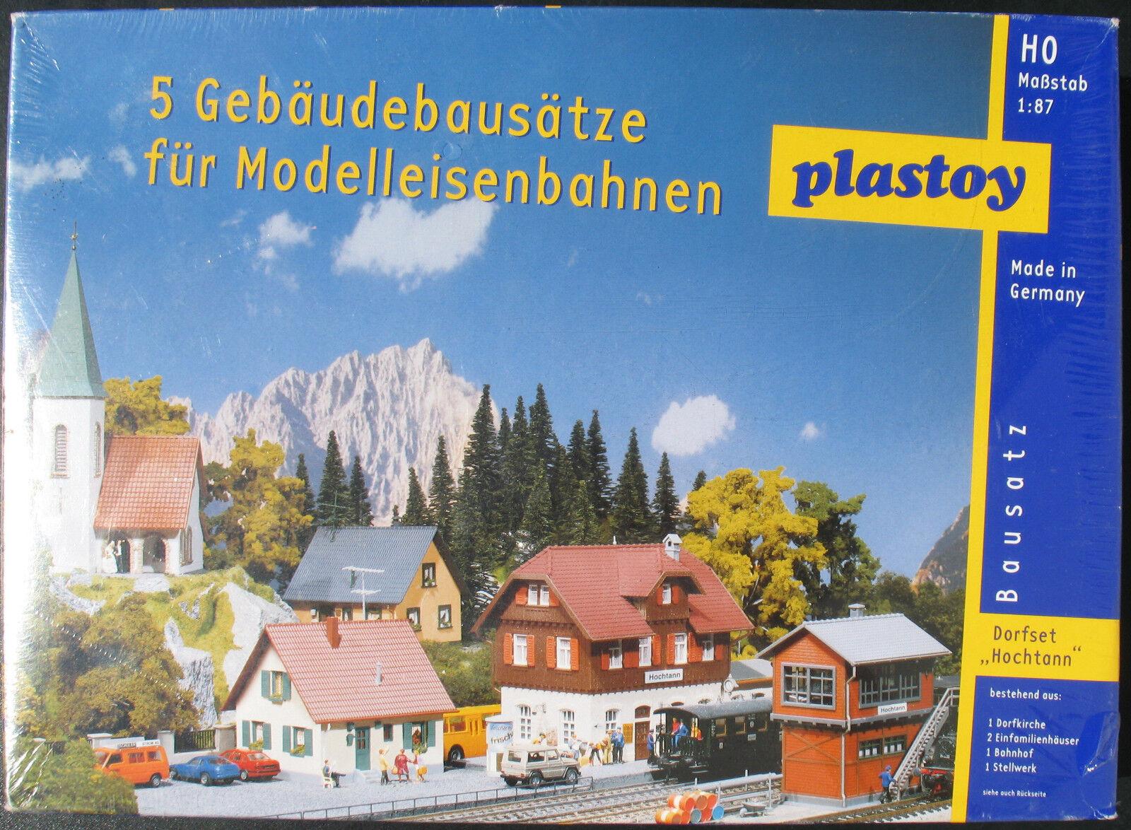 Plastoy - Dorfset  Hochtann  5 Gebäudebausätze - H0   1 87 - Eisenbahn - Kit OVP