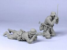 Tahk Tank 1:35 WWII German Snipers 43-45 Two Resin Figures Kit #T35116
