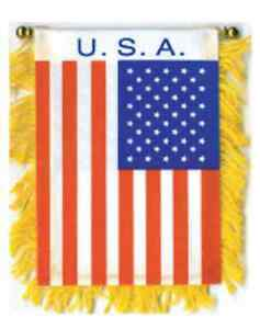 Iraq 4 x 6 Mini Banner Flag with Brass Staff and Suction Cup Brand New