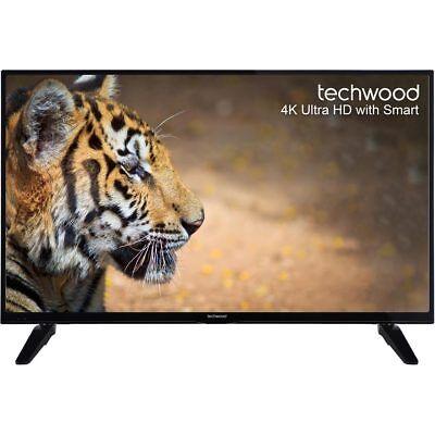 Techwood 43AO6USB 43 Inch Smart LED TV 4K Ultra HD Freeview HD 3 HDMI New