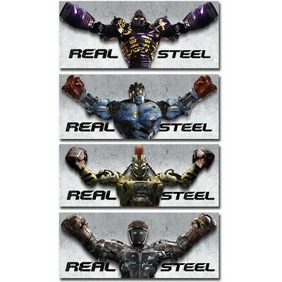 Real Steel 12x30 24x60inch Classic Movie Silk Poster Wall Room Door  Decoration