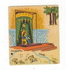 25/89 SAMMELBILD AFRIKA EDEKA WELTBILD ATLAS THRONZIMMER TIMBUKTU NIGER PALMEN