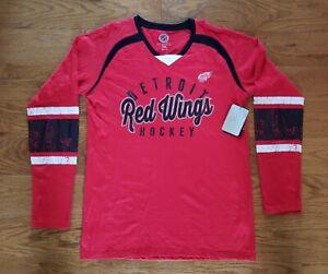 Detroit Red Wings NHL Hockey Long Sleeve Shirt GIII by Carl Banks Men's 2XL NWT