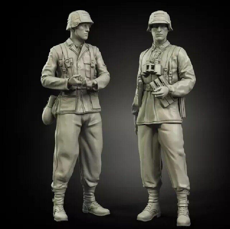 1//35 Resin Figure Model Kit German Soldiers Waffen-SS WWII Unpainted Unassambled