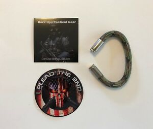 Bullet Casing Paracord Bracelet...Tru<wbr/>mp...2nd Amendment...Ni<wbr/>ckel 9m...Multi Camo