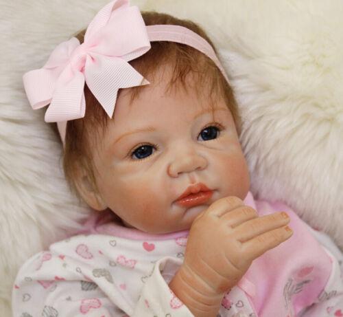 "22/"" Realistic Reborn Doll Lifelike Baby Girl Dolls Toddler Newborn Xmas Gifts"