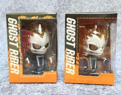 "HT Cosbaby Ghost Rider Johnny Blaze  4/"" PVC Bobble Head New in Box"