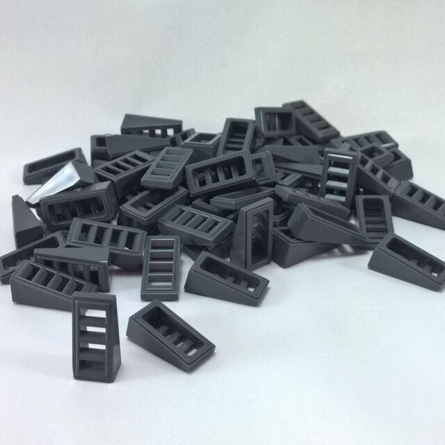 LEGO Lot of 25 Dark Bluish Gray 2x1x2//3 Slopes with 4 Slots