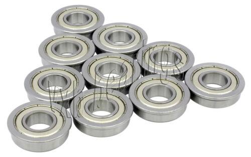 10 Flanged Bearing F604ZZ 4x12x4 Shielded Miniature Ball Bearings 968