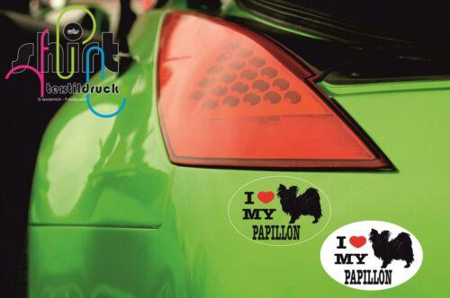 Car 18-I Love My Papillon Chien Dog autocollant pour voiture des autocollants autocollant