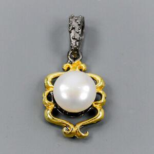 Pearl Pendant Silver 925 Sterling Unique Jewelry Design /NP11821