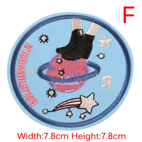 DIY Embroidery Patches Sew On Iron On Badge Applique Bag Craft Sticker TransfeKA