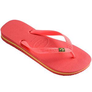 Havaianas-brasil-tira-dedo-flip-sandalia-Chanclas-Bano-coral-New-4000032-6024