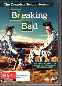 BREAKING-BAD-THE-COMPLETE-SECOND-SEASON-DVD-R4-2009-4-Disc-Set-Bryan-Cranston