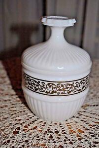 Trempé Bonbonnière - Sucrier En Opaline De Foire Blanche - Sugar Bowl In Opaline ModéLisation Durable