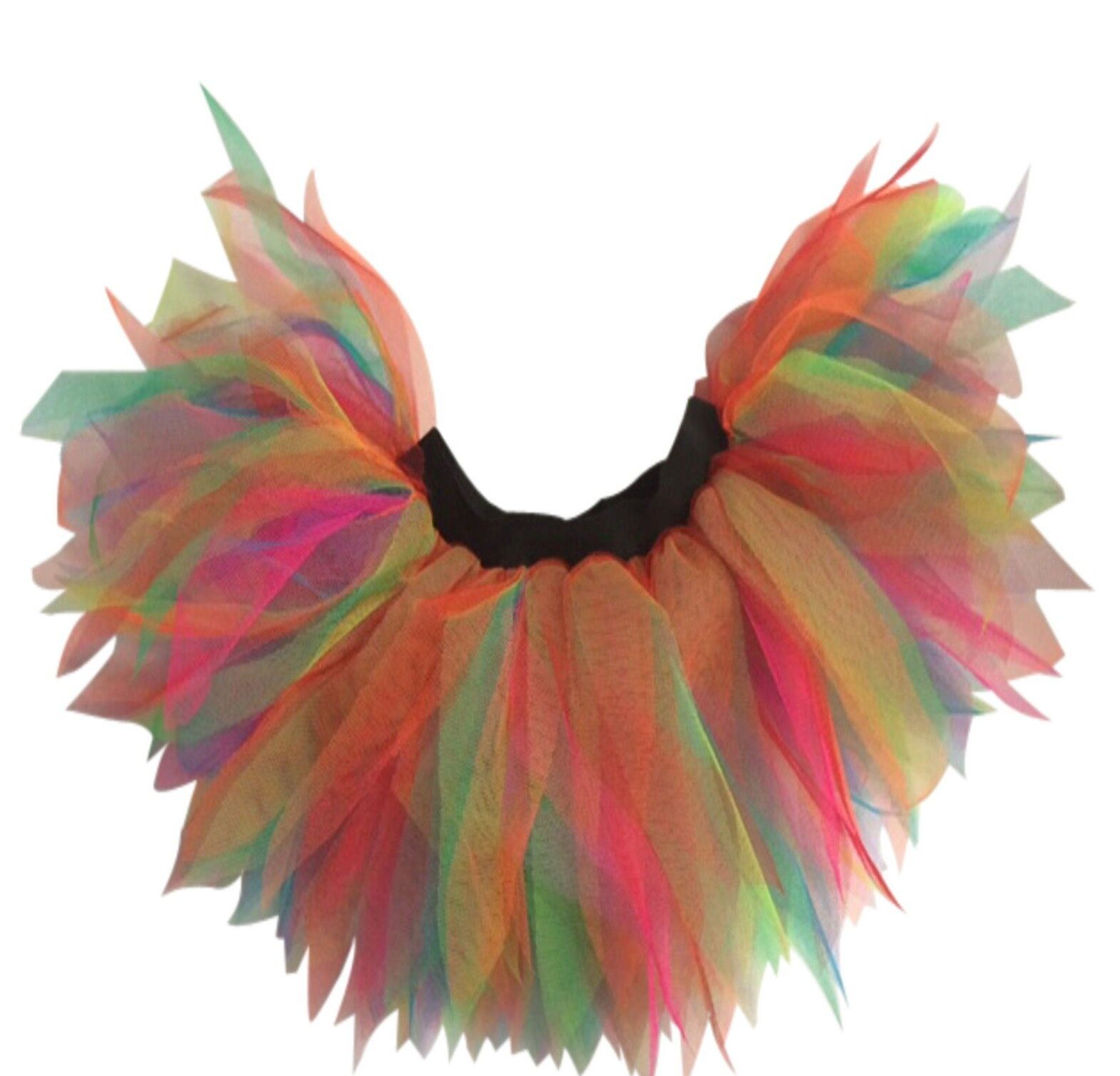 NEON PINK TUTU SKIRT I LOVE 80S FANCY DRESS HEN PARTY RAINBOW 6 LAYER ALL SIZES