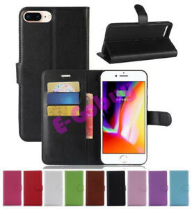 Clapet-Magnetique-Carte-Portefeuille-Cuir-PU-Etui-pour-Apple-IPHONE-8-5-5-034