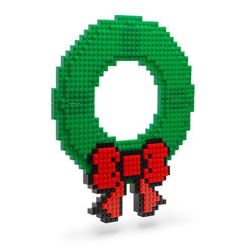 CHRISTMAS WREATH build on NEW works with LEGO KNEX holiday decoration legos set