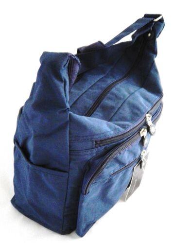 Umhängetasche Schultertasche Tasche crinkle Nylon schwarz beige blau  30 x 23