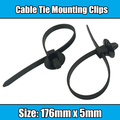 10x Cable Ties For VW Audi Skoda Seat Opel 176mm Reusable Clip Mounting Cable