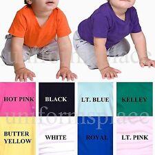 BASIC TEES INFANT T-Shirt Colors Ringspun Cotton Plain Colors 6 12 18 24 MONTHS