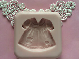 Fondant Cake Designs For Baby Girl : Baby girl dress silicone mold fondant cake decorating wax ...