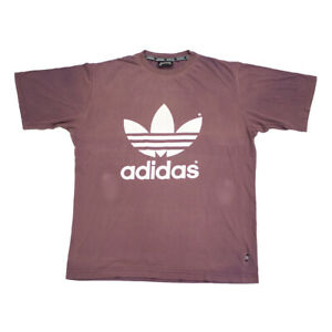 Zoo di notte Dittatura Leggere  Adidas Originals Tshirt | Vintage 90s Sportswear Retro Logo Tee Purple |  eBay