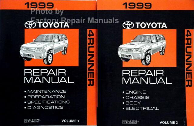 2000 Toyota 4runner Factory Service Manual Set Original Manual Guide