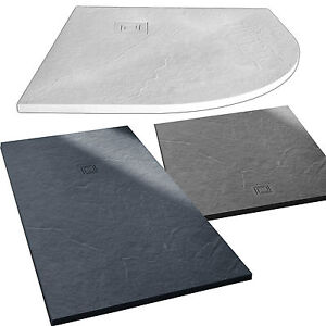 merlyn truestone shower tray slate black fossil grey white. Black Bedroom Furniture Sets. Home Design Ideas