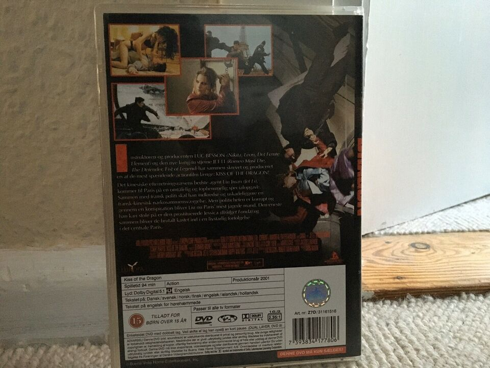 KISS THE DRAGON, instruktør LUC BESSON, DVD