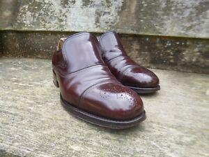 Cheaney Loafers Oxblood Excellent Church 8 Cond Burgund Brown Storbritannia rSnrxT