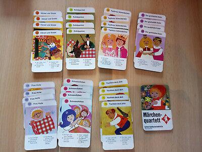 ! Kartenspiel / Quartett ! Märchen ! Inkl. Box ! 7x4 ! Berliner Spielkarten !