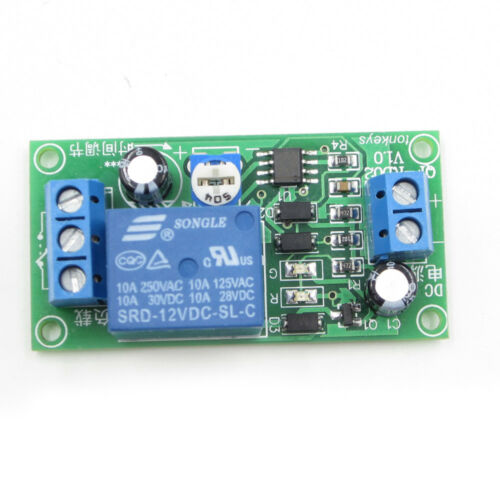 0-60 Second Delay Time Switch 1 Minute Adjustable DC12v NE555 Timer Relay Modul