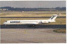 NORDIC  EAST  AIRWAYS      -       McDonnell Douglas MD-82 at Dusseldorf in 1993