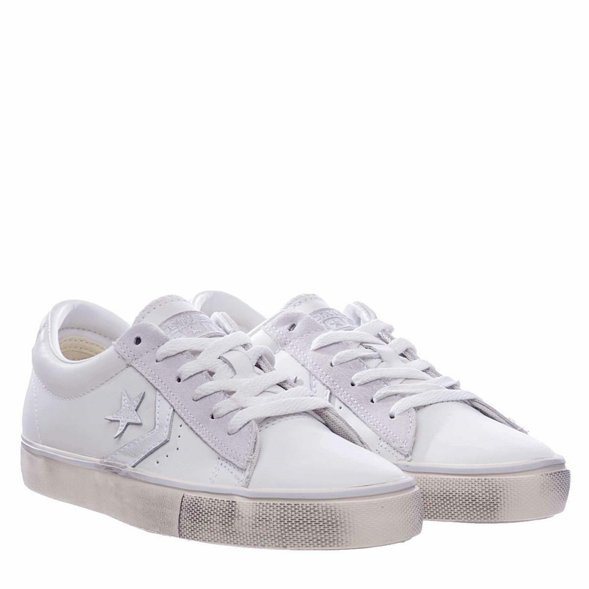 CONVERSE Pro Leather Vulc Distressed Leather  - sneakers in pelle bianco