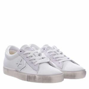 Leather Pelle Converse Sneakers In Distressed Vulc Bianco Pro AxxqpF8